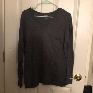 Eddie Bauer women's gray sweater size Large